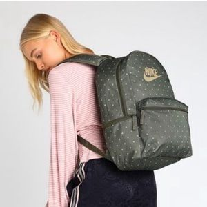 Nike Heritage Backpack Olive Polka Dot